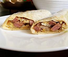 十分钟快手早餐 黑椒牛排包菜卷的做法