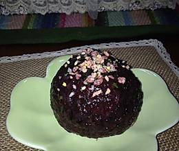 紫米肉松饭团的做法