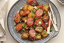 孜然火腿土豆丁的做法