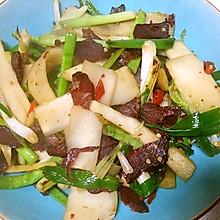 咸牛肉炒芥菜头