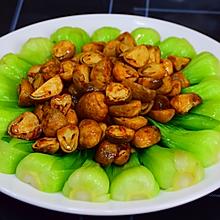 上海青烩草菇