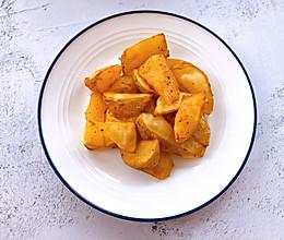 外脆里糯,焦香四溢的烤薯角的做法