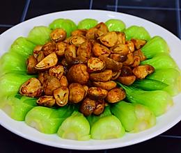 上海青烩草菇的做法