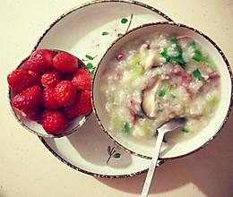 减肥早餐或晚餐——营养香菇牛肉青菜粥的做法