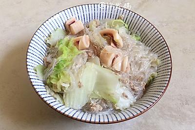 白菜鱿鱼煮粉丝