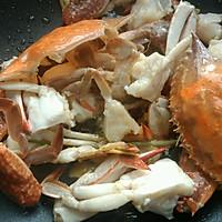 姜葱炒花蟹(梭子蟹)的做法图解5