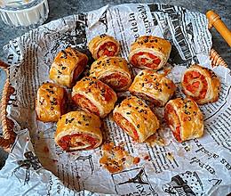 #橄榄中国味 感恩添美味#香酥火腿肉松卷的做法
