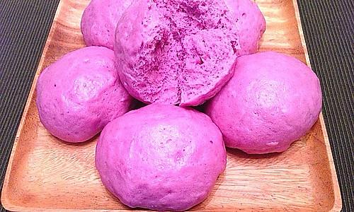 紫薯牛奶馒头的做法