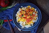 番茄鸡蛋打卤面的做法