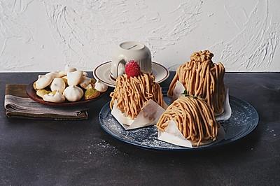 栗子蛋糕(蛋白霜饼版)