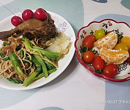 金针菇油麦菜的做法