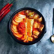 韩式五花肉辣白菜豆腐汤 思密达style 看韩剧必备宵夜