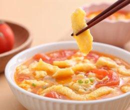 不用揉面就能吃的美味面食——西红柿小鱼面疙瘩的做法
