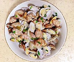 姜葱炒花蛤的做法