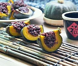 南瓜黑米饭#福临门创意米厨#的做法
