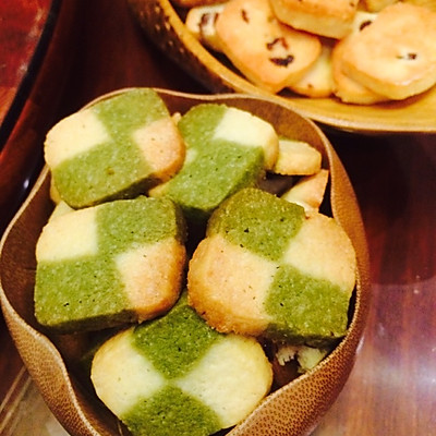 抹茶格子双色饼干