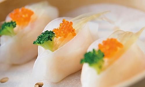 蟹籽鱼翅饺的做法