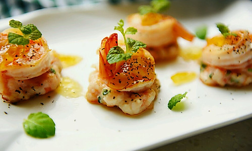 薄荷虾煎#自己做更健康#的做法
