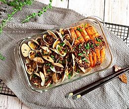大排档风蒜茸烤花蛤大虾的做法
