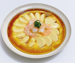 年夜菜|芙蓉花开·玉子豆腐虾仁蒸蛋的做法