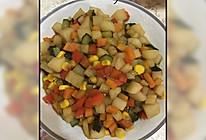 五彩斑斓:醋溜山药玉米黄瓜彩椒胡萝卜的做法