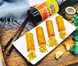 #硬核菜谱制作人#烤豆皮金针菇卷的做法