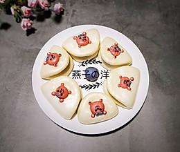 #童年不同样,美食有花样#【荷叶夹】戴蓝色蝴蝶结的草莓熊的做法