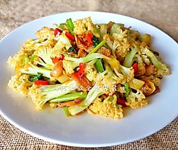 和饭店一个味道的干锅花菜的做法