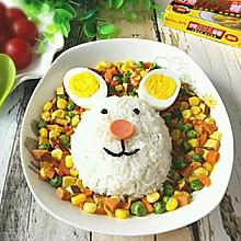 素什锦咖喱兔子饭#奇妙咖喱,拯救萌娃食欲#