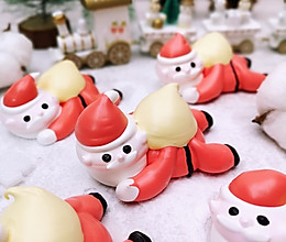 软萌圣诞老人3D马林糖,嘎嘣脆甜到心坎!的做法