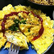 白饭鱼煎蛋