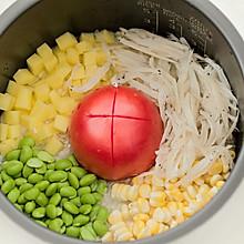 銀魚番茄燜飯