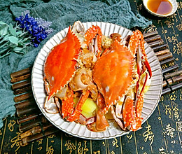 蒜泥粉丝蒸梭子蟹的做法