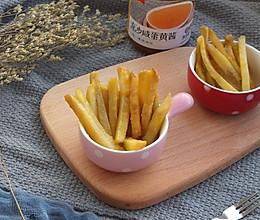 咸蛋黄焗土豆条的做法