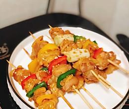彩椒/大葱鸡肉串的做法