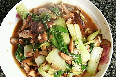 香菇炒油菜