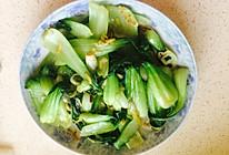 虾米油菜的做法