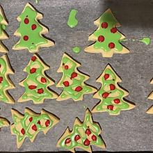 圣诞树糖霜曲奇饼干