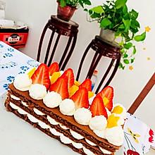 草莓芒果巧克力戚风蛋糕