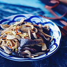 白菜炒平菇