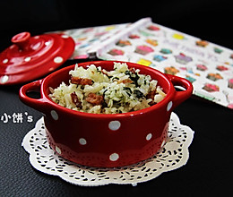 【菠菜腊肠菜饭】饭菜一锅端的做法