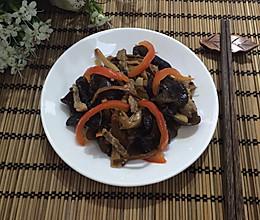 木耳黄花菜炒肉丝:的做法