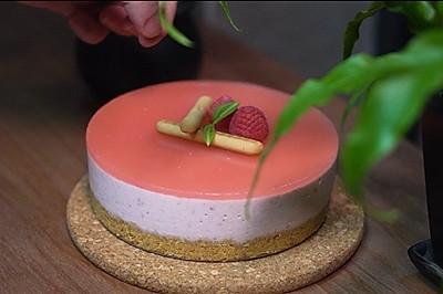 免烤快手版|树莓慕斯蛋糕