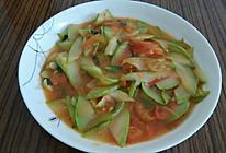 角瓜炒西红柿的做法