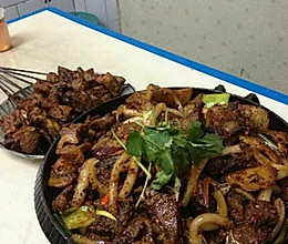 青海炕锅土豆羊肉的做法