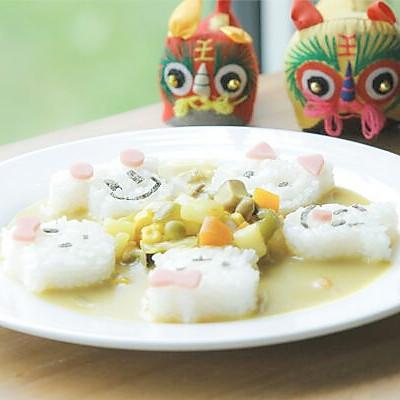 【微体兔菜谱】小熊咖喱饭丨夏天让你食欲大增的暖心料理