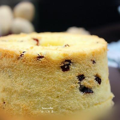蔓越莓椰香戚风蛋糕