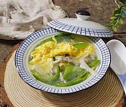 #冰箱剩余食材大改造#丝瓜菇蛋汤的做法