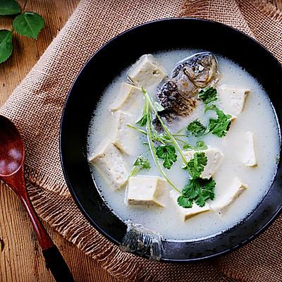 春日养生奶白鲫鱼豆腐汤