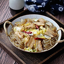 五花肉炖粉条白菜#秋天怎么吃#